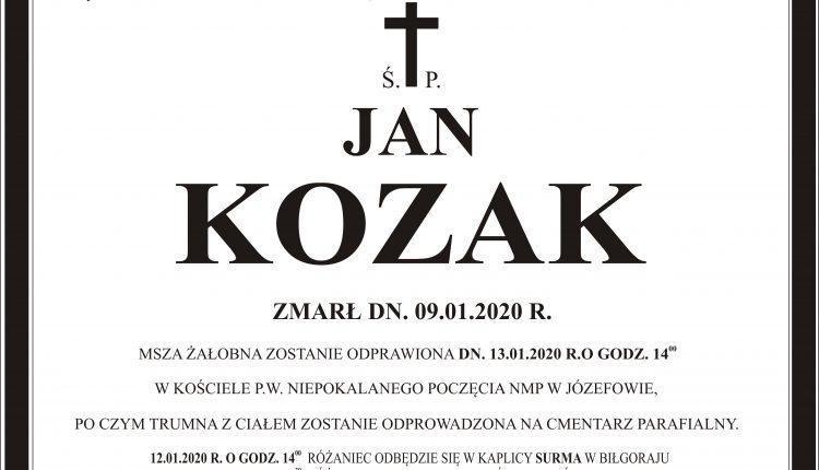 Ś.P KOZAK JAN