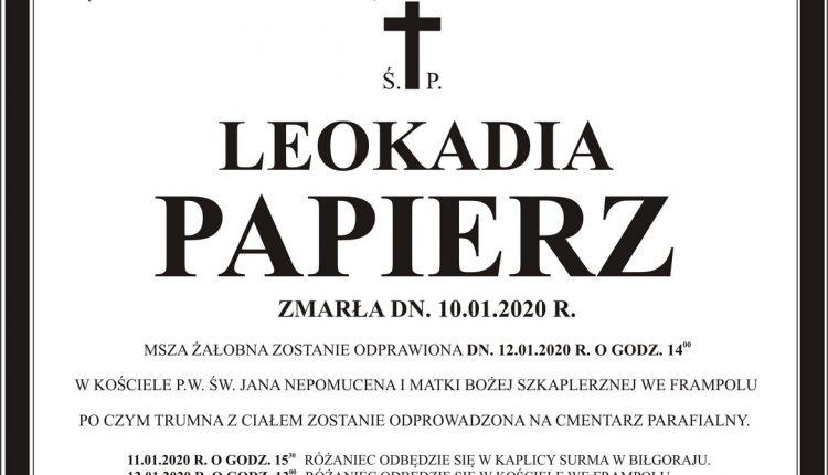 Ś.P PAPIERZ LEOKADIA