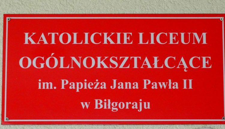 Katolickie Liceum Ogólnokształcące im. Papieża Jana Pawła II w Biłgoraju (4)