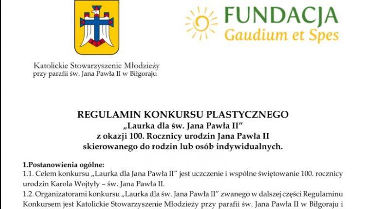 Laurka dla św. Jana Pawła II_konkurs-1