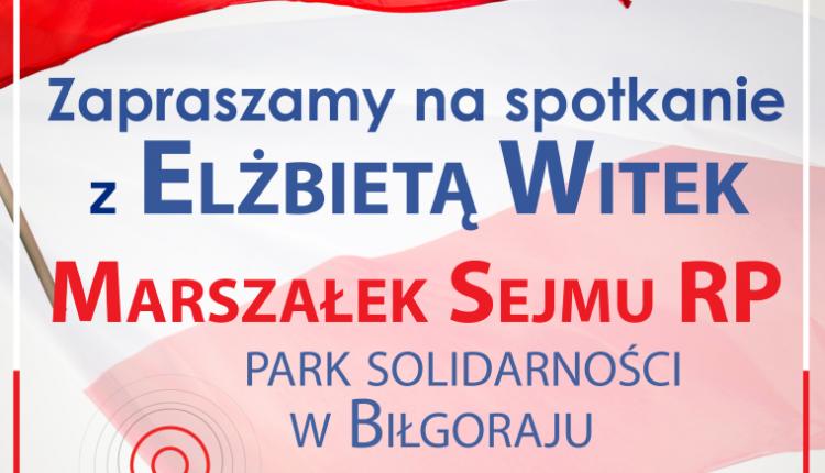 Zaproszenie na spotkanie z Panią Marszałek (Średni)
