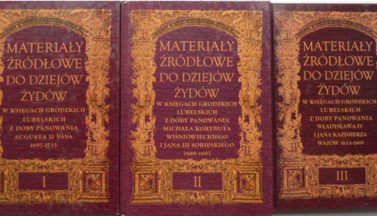 Materiały źródłowe do dziejów Żydów, t. 1-3
