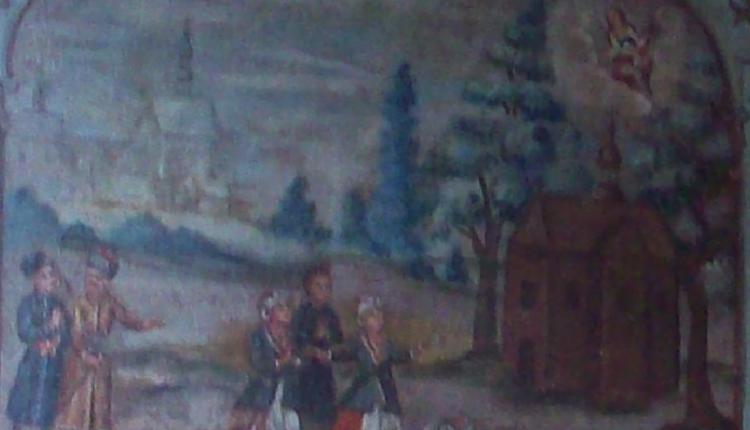 Obraz wotywny z opisem cudu z 1639 roku 1