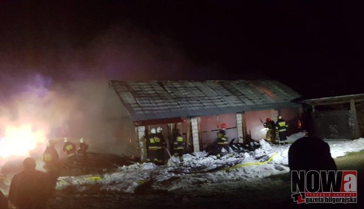Pożar Dąbrowica stodoła