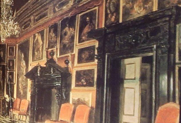 Sala Karmazynowa pałacu w Podhorcach na obrazie A. Gryglewskiego 1