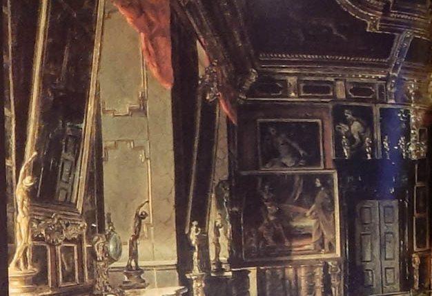 Sala Karmazynowa pałacu w Podhorcach na obrazie A. Gryglewskiego 2