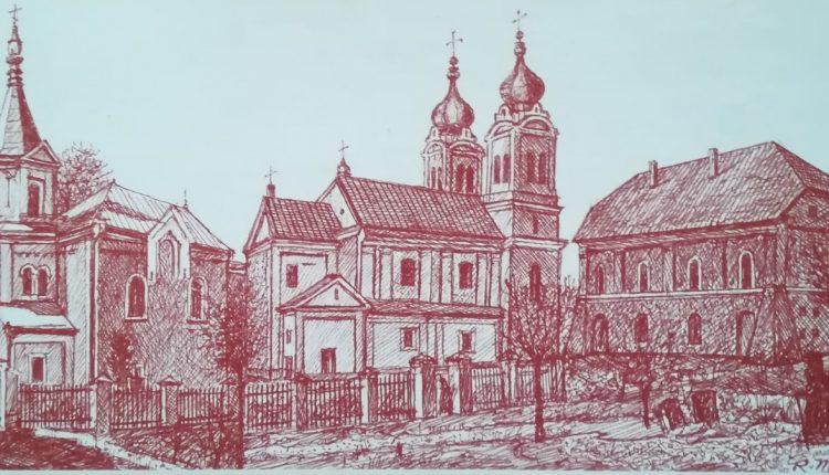 Świątynie biłgorajskie – karta pocztowa Muzeum Ziemi Biłgorajskiej w Biłgoraju