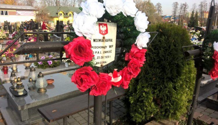 grób kpr. pchor. S. Wdowiaka w Biłgoraju